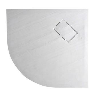 ATIKA Duschwanne  90x90x3,5cm, R550, weiß Steindekor