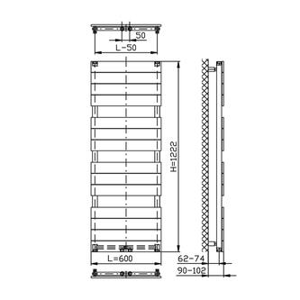 BONDI Badheizkörper 600x1222mm, weiss