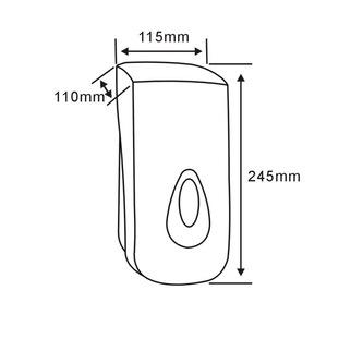 Seifenspender zum Einhängen 1000ml, weiß