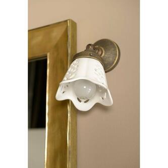 SORENTO Lampe E14 40W, 230V, Keramikschirm, bronze