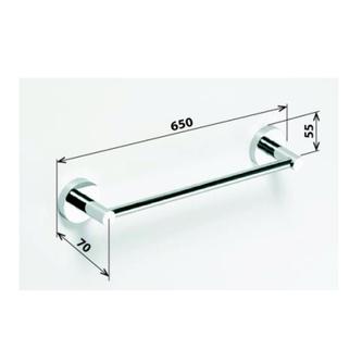X-ROUND  E Handtuchhalter 655mm, Chrom
