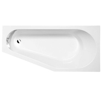 TIGRA asymmetrische Badewanne 170x80x46cm, rechts, weiß