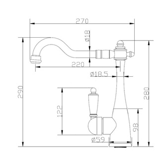 CONCORDE Küchenarmatur, bronze