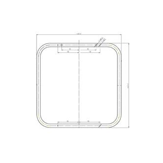 Spiegel 44x44cm, weiß
