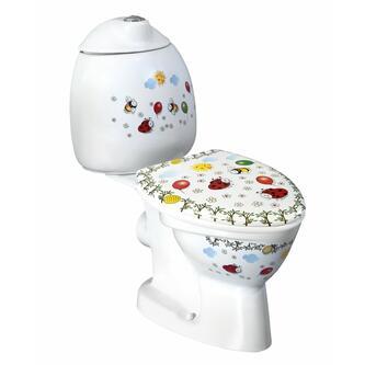 KID Kinder-WC inkl.Spülkasten, Abgang waagerecht, mit Farbdruck