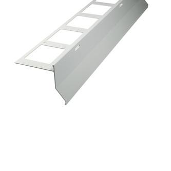 Balkonabdeckprofil Aluminium, Oberfläche Pulverbeschichtung, Auflageschenkel 80mm, Länge 300cm,  11/15/24 mm hoch,grau, Außenhöhe 75/79/88mm