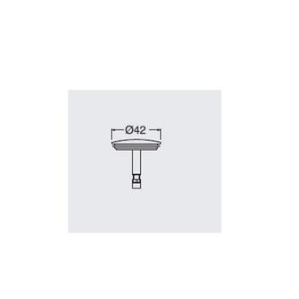 Ablaufgarnitur Ersatzstopfen, Messing, 42mm, Chrom