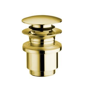 Verschließbare Ablaufgarnitur für Waschtische ohne Überlauf,H.10-25mm,leise,Gold