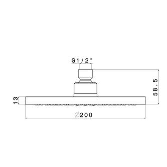 Kopfbrause, Durchmesser 200mm, System AIRmix, Chrom