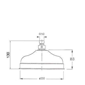ANTEA Kopfbrause, Durchmesser 200mm, Nickel poliert