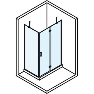 VITRA LINE Duschabtrennung, Rechteck 1200x1000mm, rechts, Klarglas