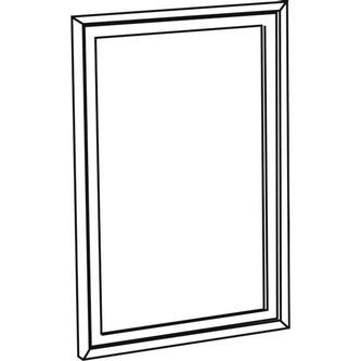 RETRO Spiegel 70x115cm, altweiß