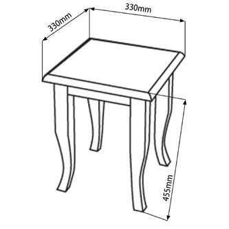 RETRO Stuhl 33x45x33cm, altweiß
