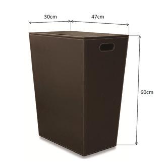 ECO PELLE Wäschekorb 47x60x30cm, braun