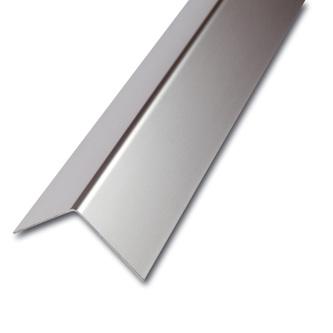 Edelstahl Eckschutzprofil, 1-fach gekantet, Oberfläche glatt, Stärke1,0mm,250cm lang, Winkelmaß nach Wahl