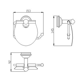 ASTOR Toilettenpapierhalter mit Deckel, Chrom