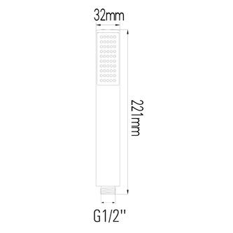 Handbrause, 1 Strahlart, Durchmesser 221mm, ABS/Chrom