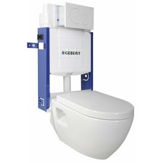 WC Set Hang – WC Nera mit Spülkasten und Geberit-Knopf zum Mauern