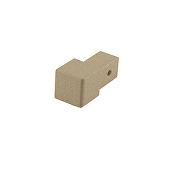 Quadro Aluminium Eckstück, passend zur Quadro Aluminium Schiene, strukturbeschichtet, sand, 10 und 11 mm hoch