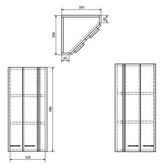 ZOJA/KERAMIA FRESH Eckschrank 35x76x35cm, weiß
