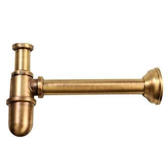 Waschtisch-Siphon 1'1/4, Abfluss 32mm, bronze