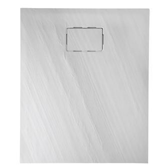 ATIKA 120x80x3,5cm Steinoptik, weiß