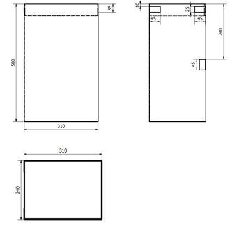 Stoff-Wäschekorb 310x500x230mm, Klett, grau