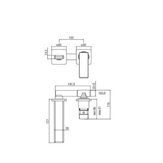 NOTOS 2-Loch- Waschtischarmatur, Chrom