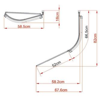 NAOS Duschabtrennung, 117 cm, weißer Rahmen, Klarglas