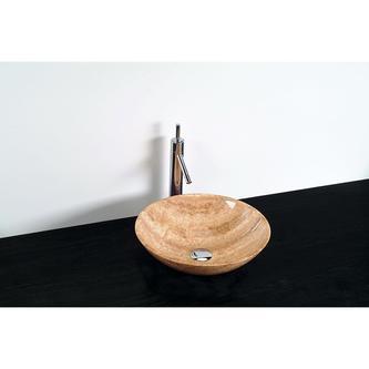BLOK Stein-Waschtisch Durchmesser 40cm, polierte strata