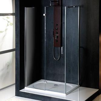 VITRA LINE Duschabtrennung Rechteck 800x700mm, links, Klarglas