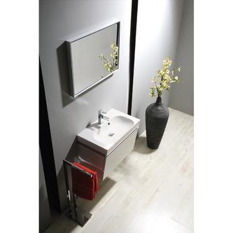 JOY Gussmarmor-Waschtisch 60x37cm, weiß