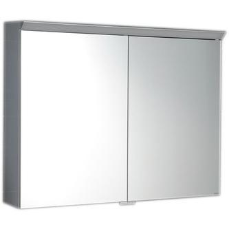 TOBI Spiegelschrank mit LED Bel. 100x73x17cm, berührungslos. Lichtschalter,weiss