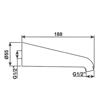 Duscharm 170mm, Chrom