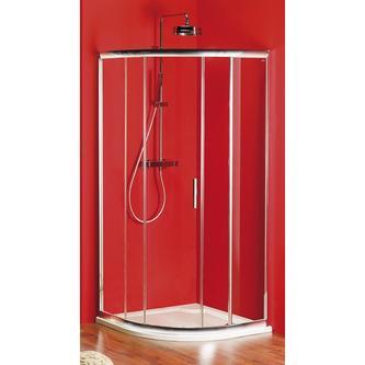 SIGMA Duschabtrennung Viertelkreis 900x900mm, R550, 1x Tür, Glas Brick