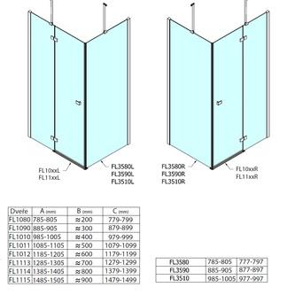 FORTIS LINE Seitenwand, 900mm, Klarglas