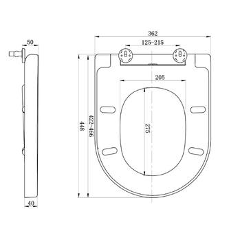 LISA WC-Sitz mit Soft Close, Duroplast, weiß, abnehmbar
