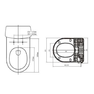CLEAN STAR Dusch-WC-Aufsatz, D-Form