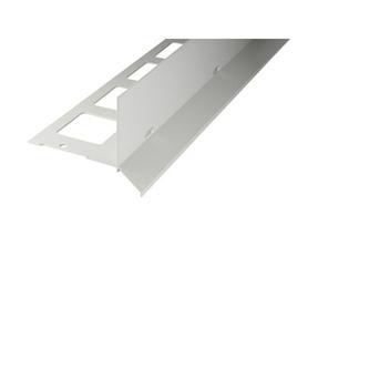 Kiesbettprofil Alu, Auflageschenkel 100mm, 300cm lang,Innenhöhe 70mm, grau
