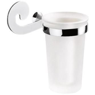 SISSI Zahnbürstenhalter Chrom/Glas satin