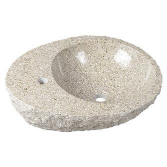 BLOK Stein-Waschtisch 56x46x15cm, grober Stein
