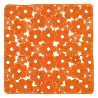 MARGHERITA Duscheinlage 51,5 x 51,5 cm, Anti-Rutsch, PVC, orange