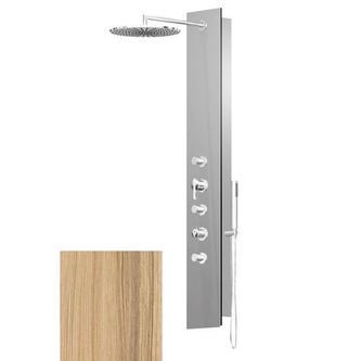 FLAT OVAL Thermostat Duschpaneel 210x1390mm, Kokos