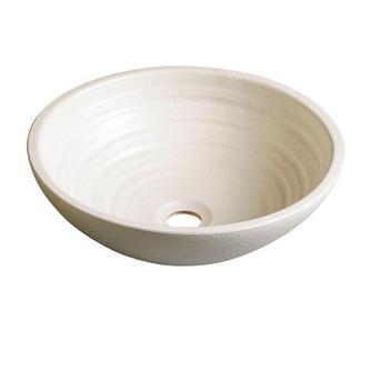 ATTILA Keramik-Waschtisch Durchmesser 46cm, Elfenbein
