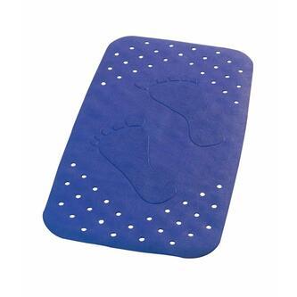 PLATFUS Badvorlage 38x72cm Anti-Rutsch, Kautschuk, blau