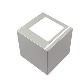 Eckstück, Aluminium, passend zum Balkonabdeckprofil Aluminium, grau, 75mm hoch
