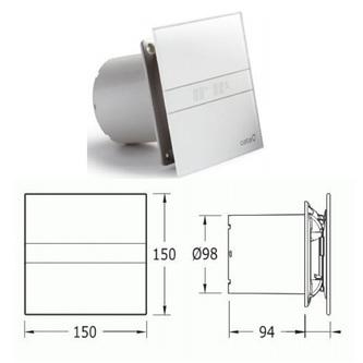 E-100 GT Axial-Badlüfter mit Zeitschaltuhr, 8W, Rohrleitung 100mm, weiß