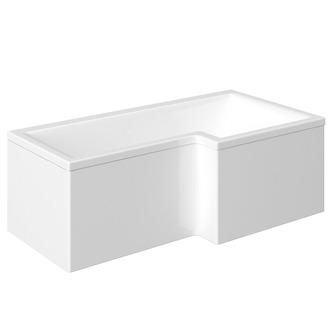 syna badewanne mit duschzone 170x85 70x40 cm rechts wei komplett set. Black Bedroom Furniture Sets. Home Design Ideas