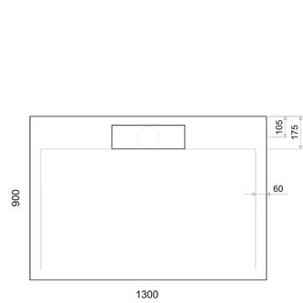 IRENA Duschwanne 130x90x3,5cm weiß