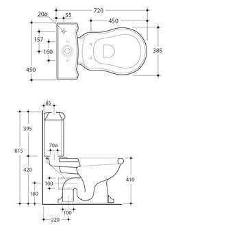 RETRO Spülkasten zum Kombi-WC